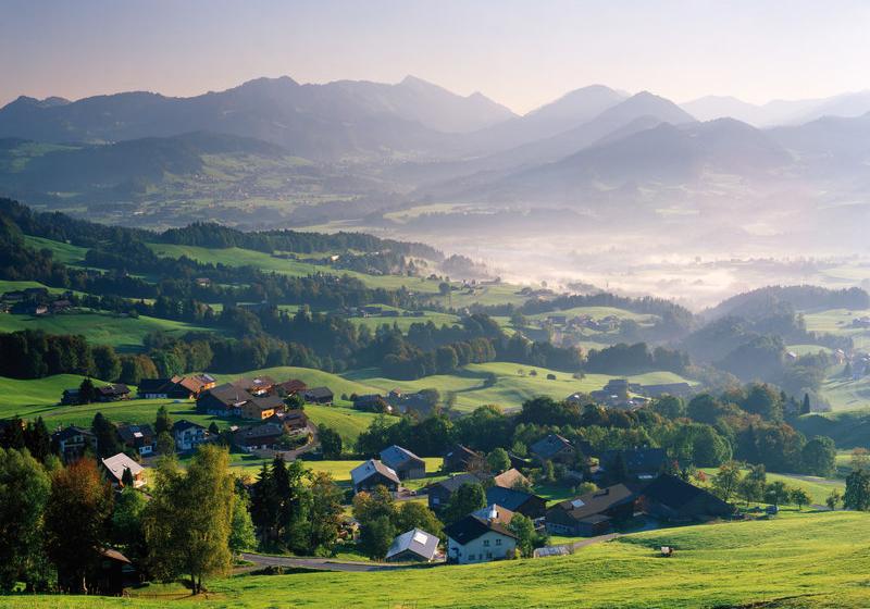 Bregenzerwald Blick auf Schwarzenberg