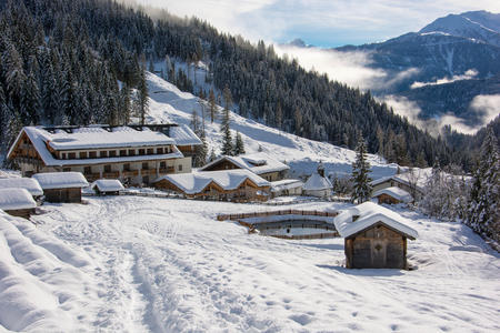 Das Almwellness Resort Tuffbad im Winter