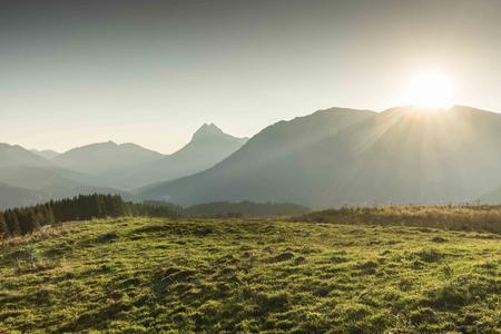 Sonnenaufgang im Karwendel und Rofan Bergsommer
