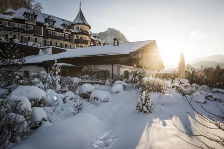 Außenansicht im Winter Ebners Waldhof