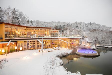 Die Therme nur für Hotelgäste - auch im Winter ein Paradies.