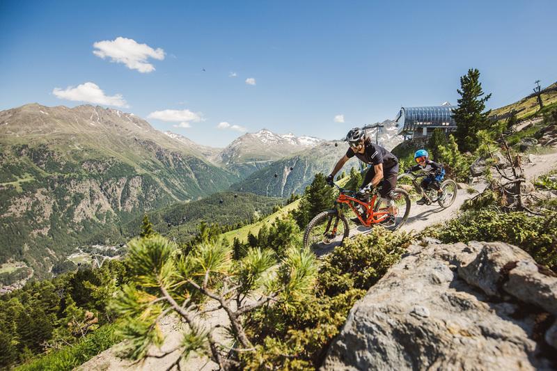 Geführter Fahrradspaß in den Bergen