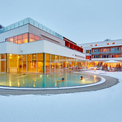 Das Thermalhotel Fontana im Winter