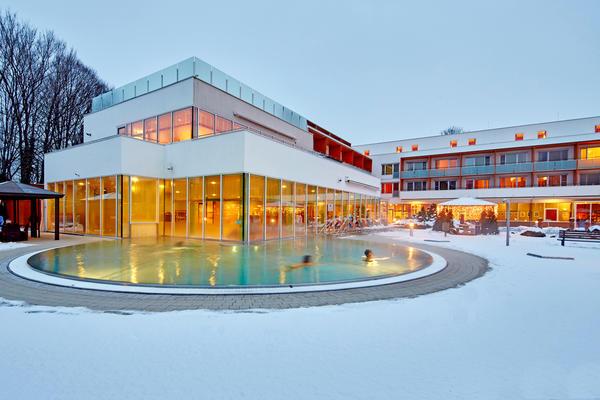 Das Thermalhotel Fontana im Winter