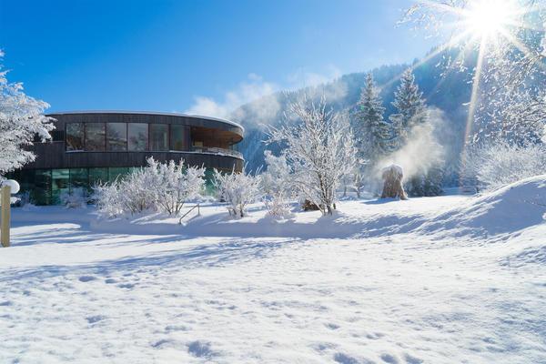 Badehaus im Winter im Gesundhotel Bad Reuthe